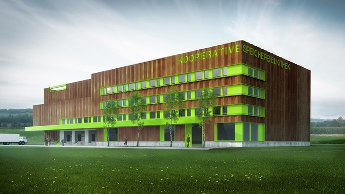 Kooperative Speicherbibliothek in Büron, Visualisation